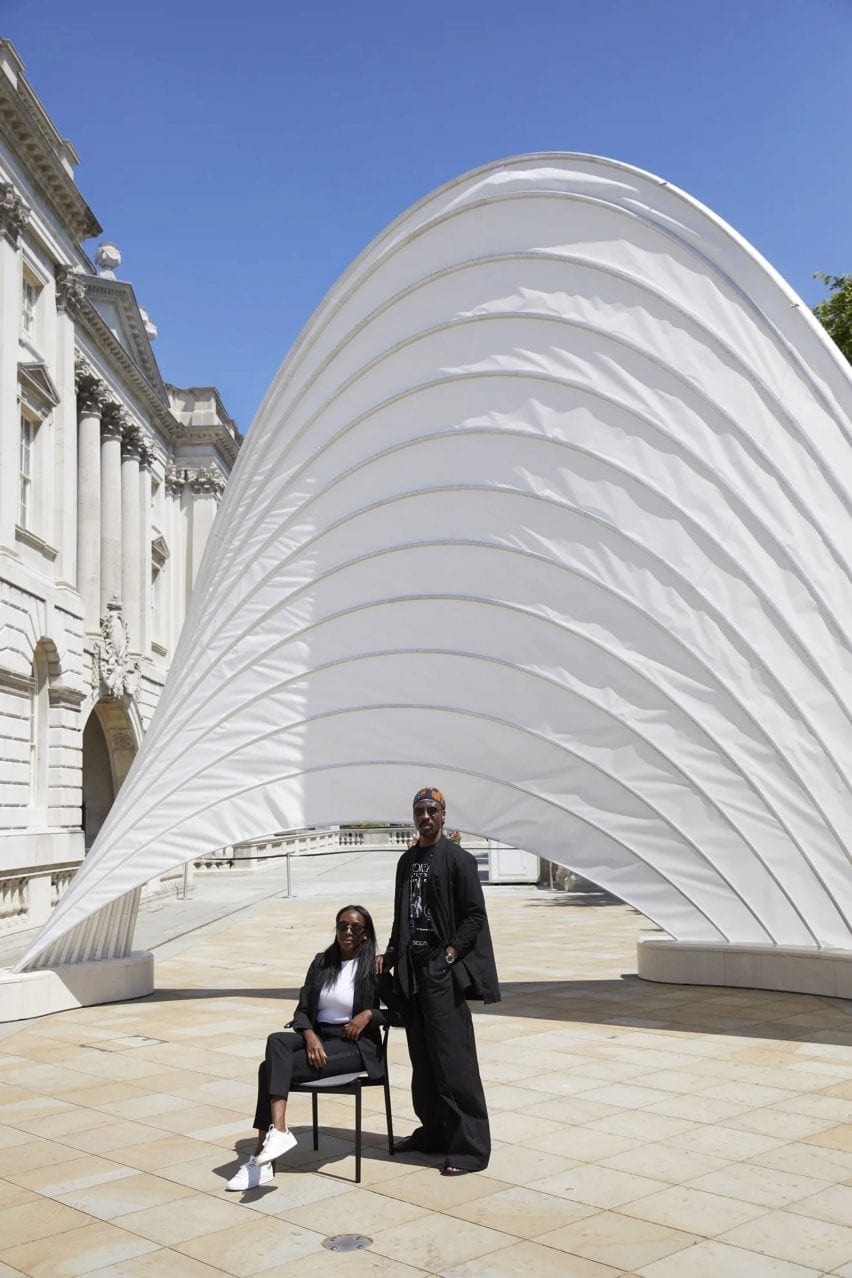 Ini Archibong and Tamara Houston at Pavilion of the African Diaspora