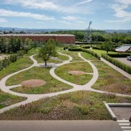 paths wind through planted areas