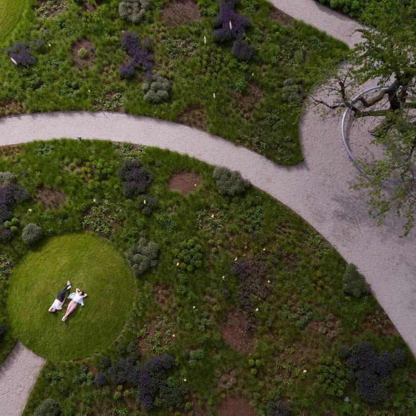 Piet Oudolf garden at Vitra Campus