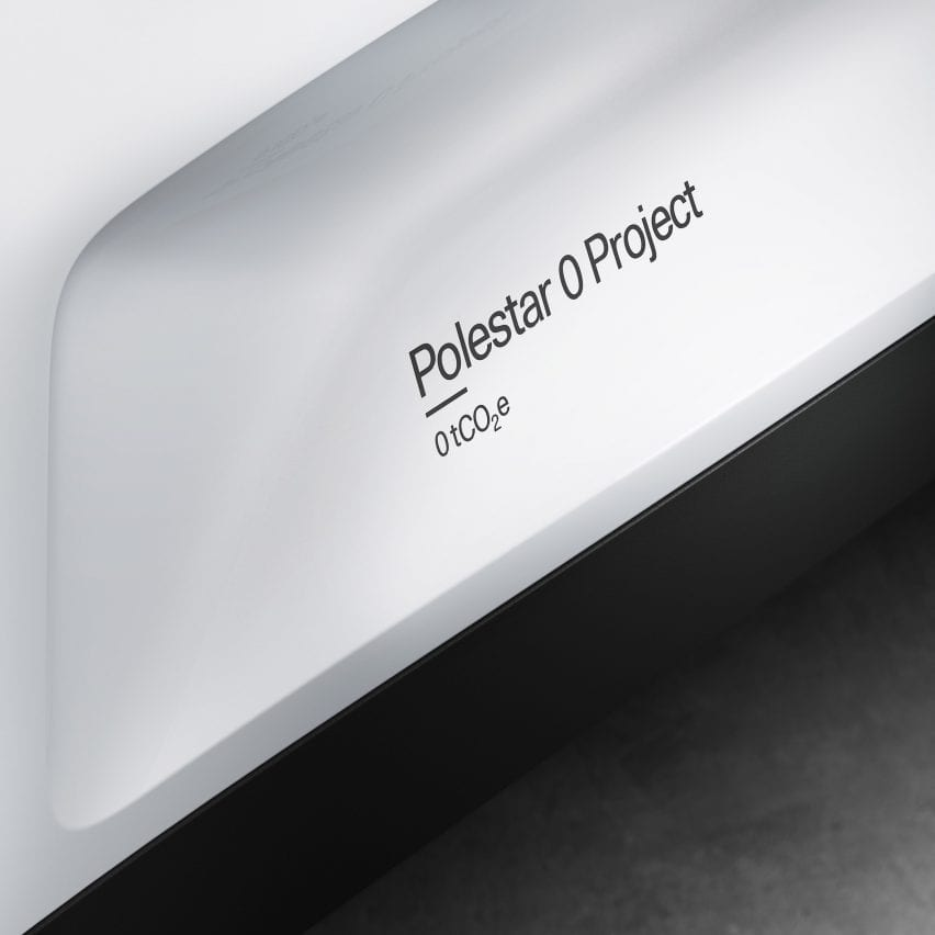 Render of Polestar 0 project labelling on a car