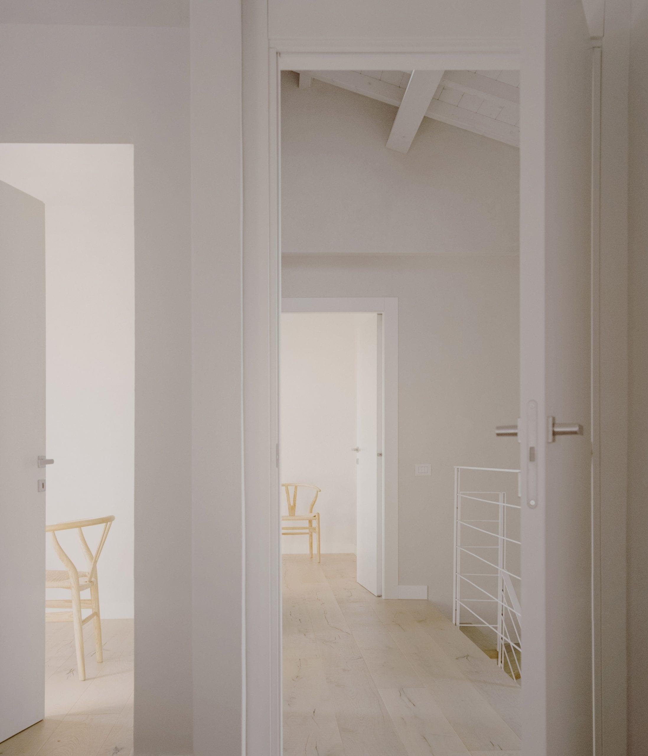 Light wood covers the floors of the Casamanda residence