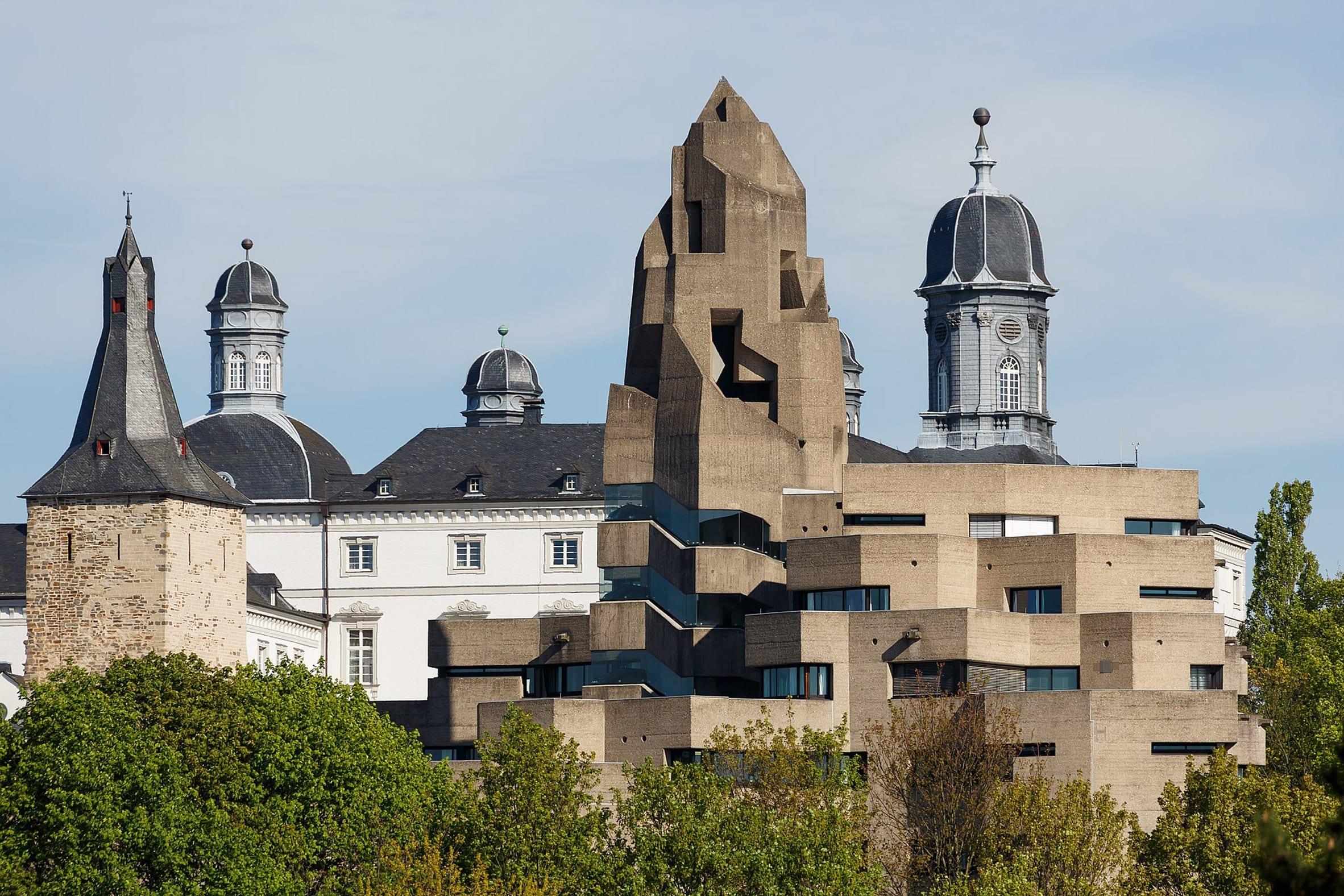 Brutalist Bensberger City Hall by Gottfried Böhm