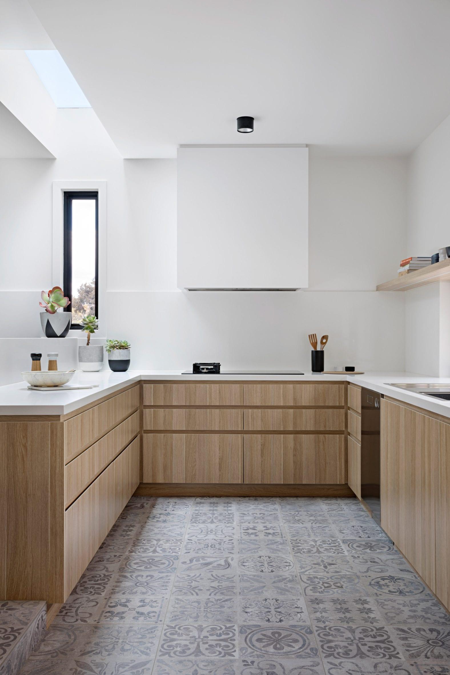 U-shaped kitchen in Australia