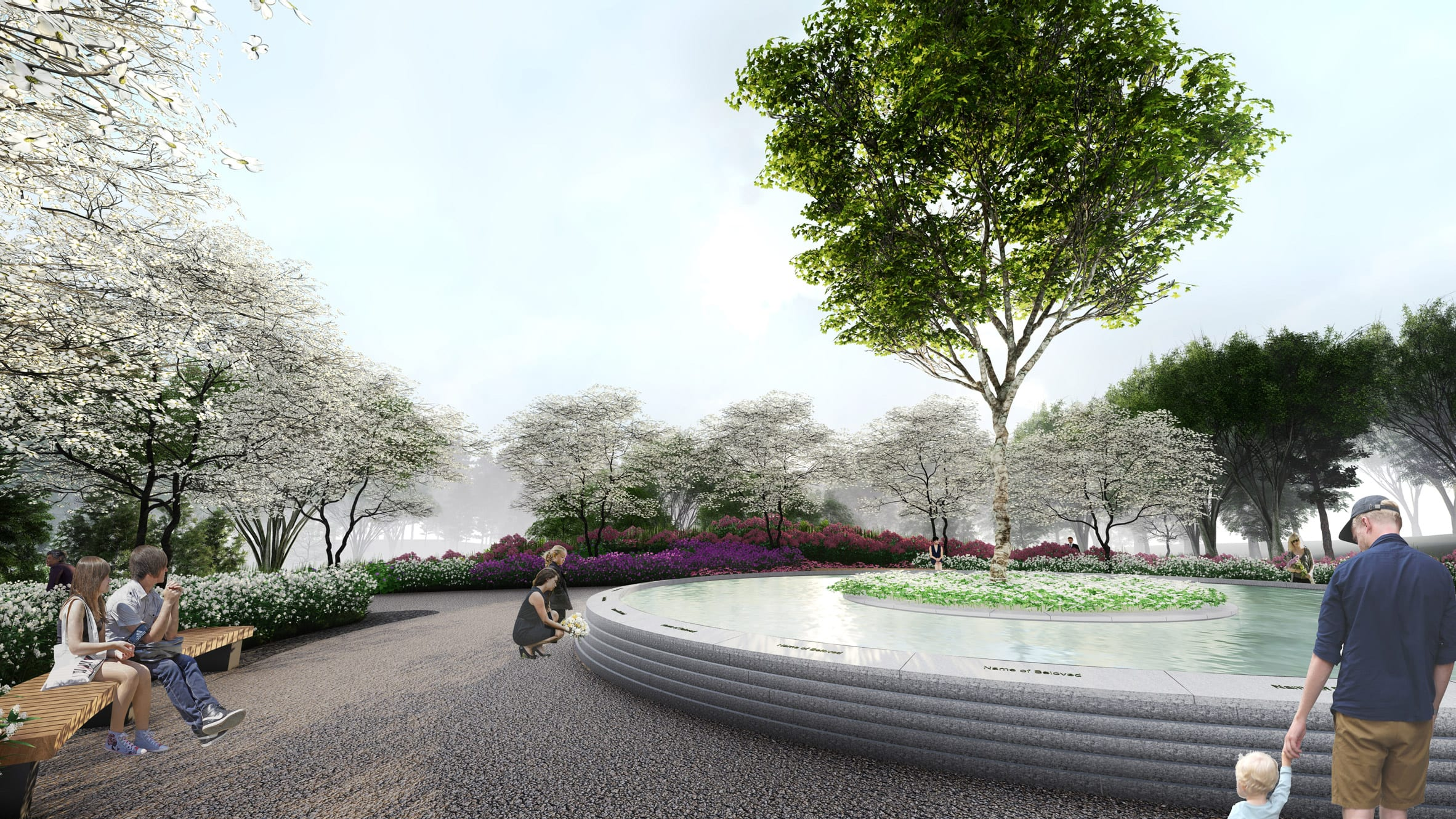 Memorial water feature