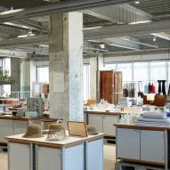 The retail space has an industrial look
