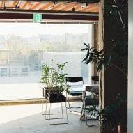 Large windows overlook the area