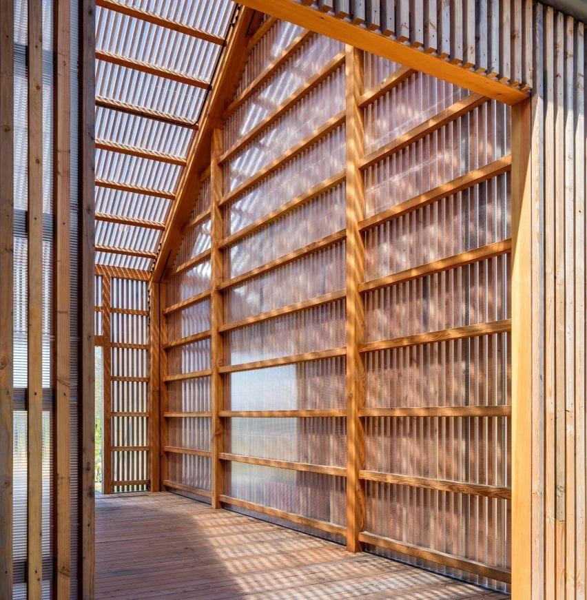 Wood structure passivhaus barn