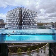 """Fully transparent Sky Pool provides """"a swim like no other"""" between two housing blocks in London"""