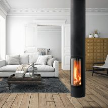 A suspended Slimfocus fireplace