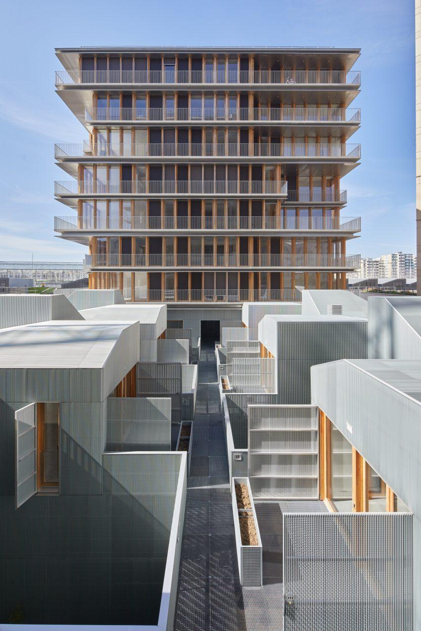 A timber-clad apartment block in Paris
