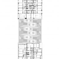 Floor plan of a mixed-use development in Paris by Moussafir Architectes and Nicolas Hugoo Architecture