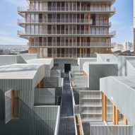 Former Parisian railway station turned into housing and live-work units