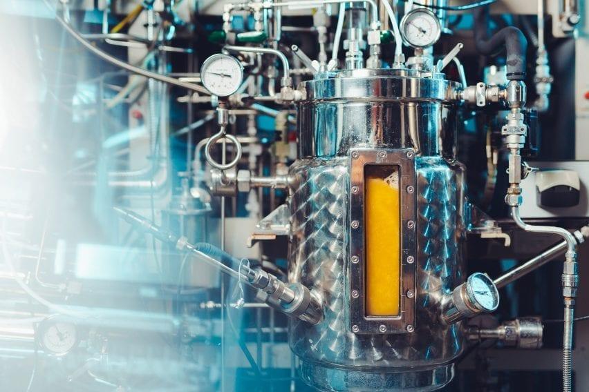 Bioreactor with microbial slush used to make Solein powder