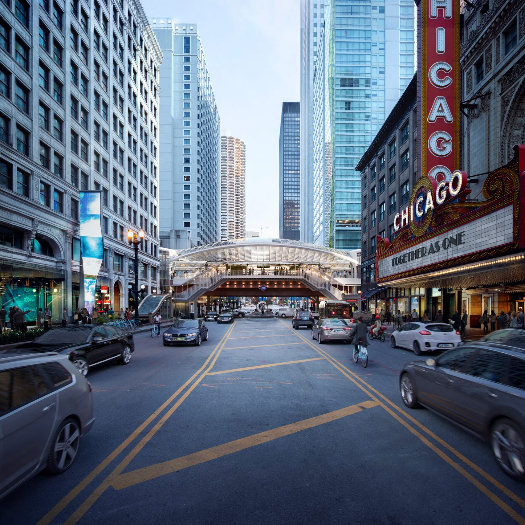 SOM redesigns metro station in Chicago