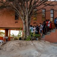 The courtyard of the Startup Lions Campus in Kenya