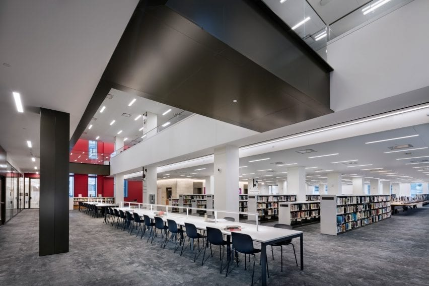 Interior of the Stavros Niarchos Foundation Library in New York