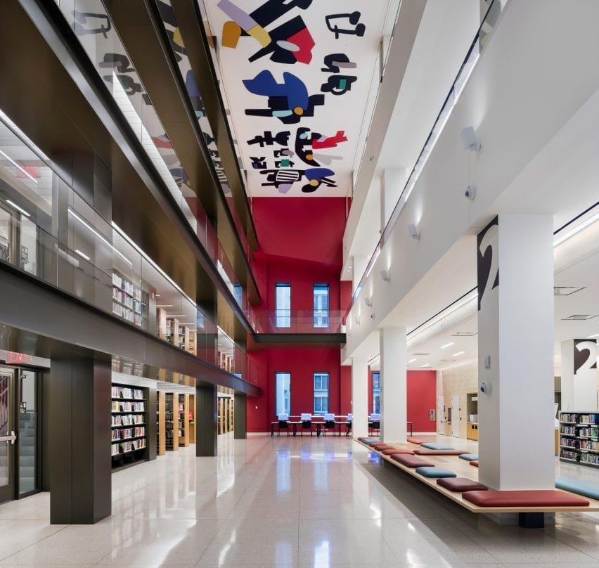 Interiors of a historic library renovated by Mecanoo and Beyer Blinder Belle Architects & Planners