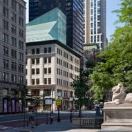 "Aluminium ""wizard hat"" tops New York library renovation by Mecanoo"