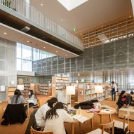 Workspaces were placed throughout the library