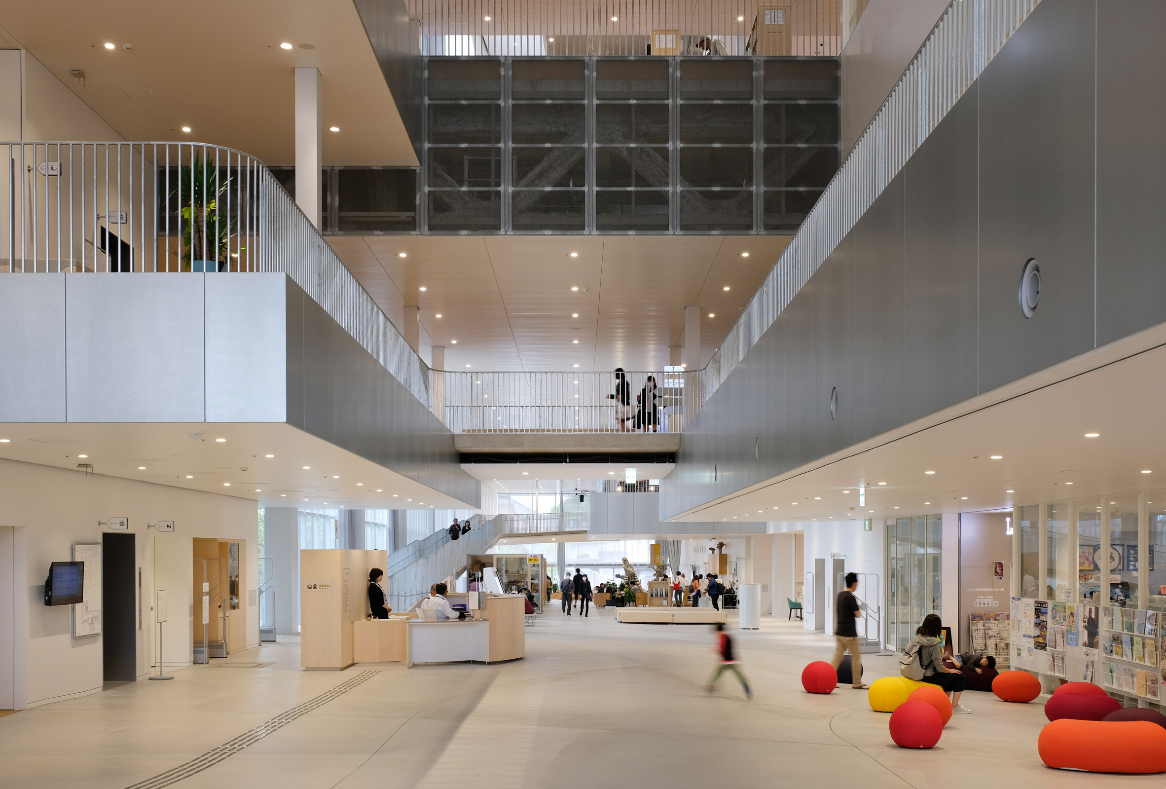The lobby of The Sukagawa Community Center