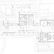 Ground floor plan of the building