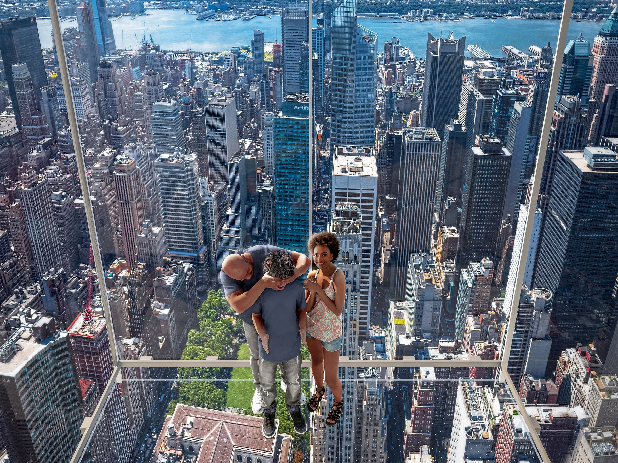 Levitation attraction at a supertall skyscraper designed by KPF