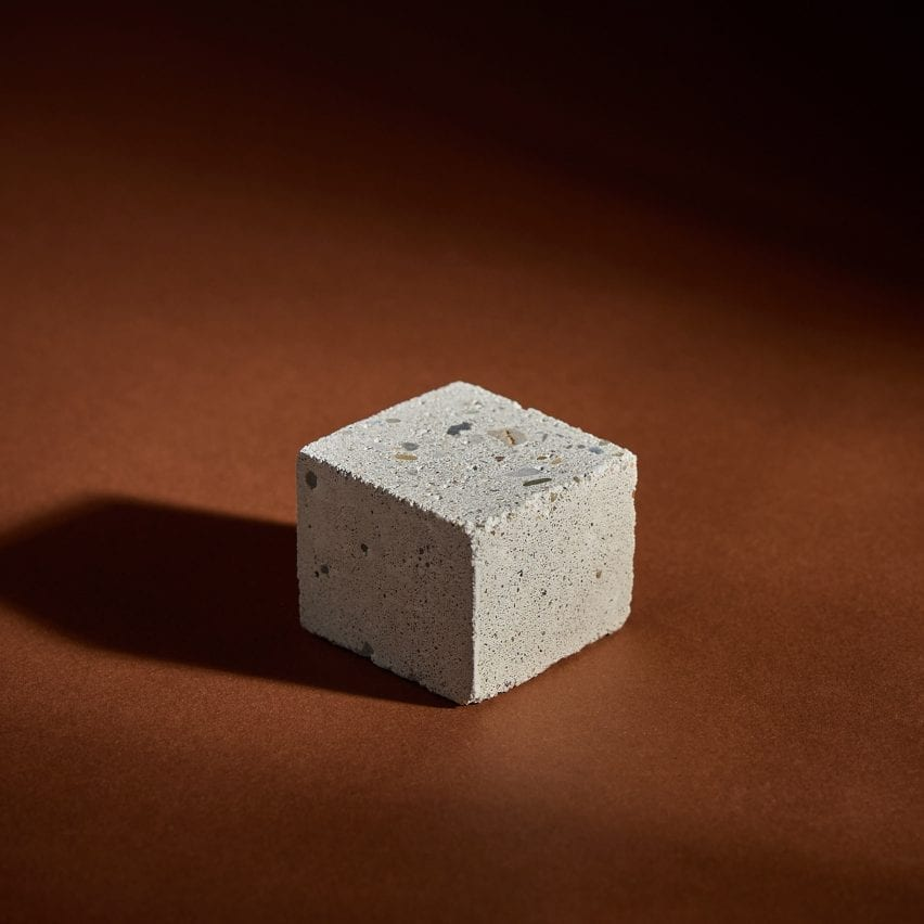 Concrete made from olivine by Green Materials