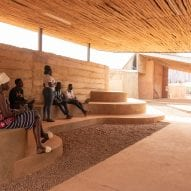 A shaded space at Burkina Institute of Technology