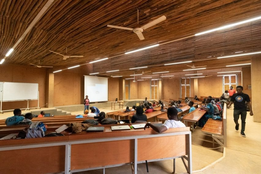 A lecture theatre in Burkina Institute of Technology