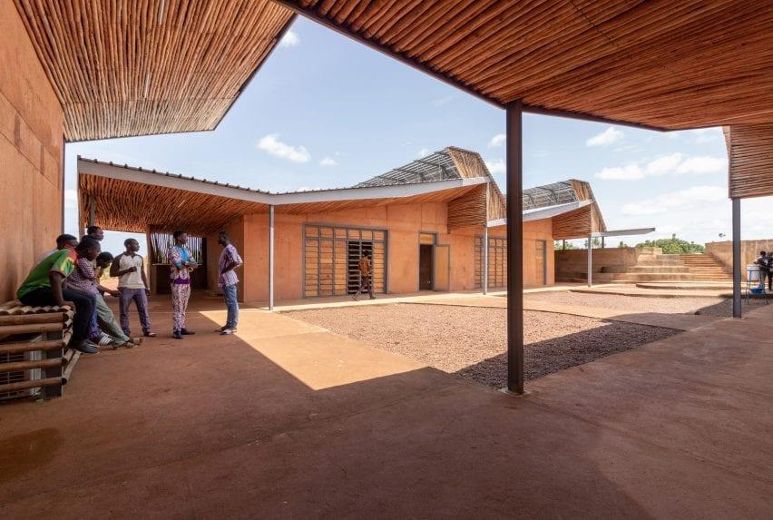 The courtyard of a university in Burkina Faso