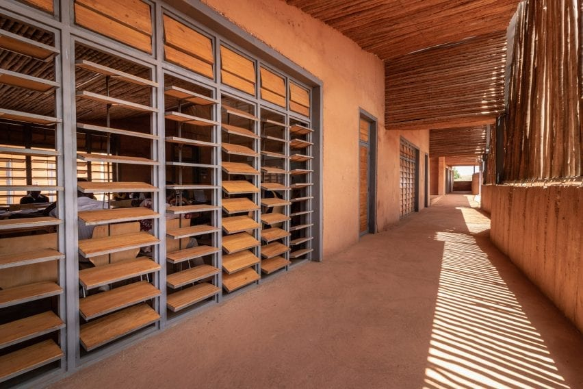 A corridor of the Burkina Institute of Technology
