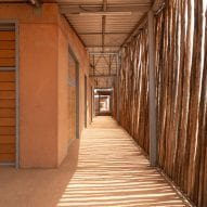 A shaded corridor in Burkina Institute of Technology