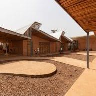 A courtyard of a university in Burkina Faso