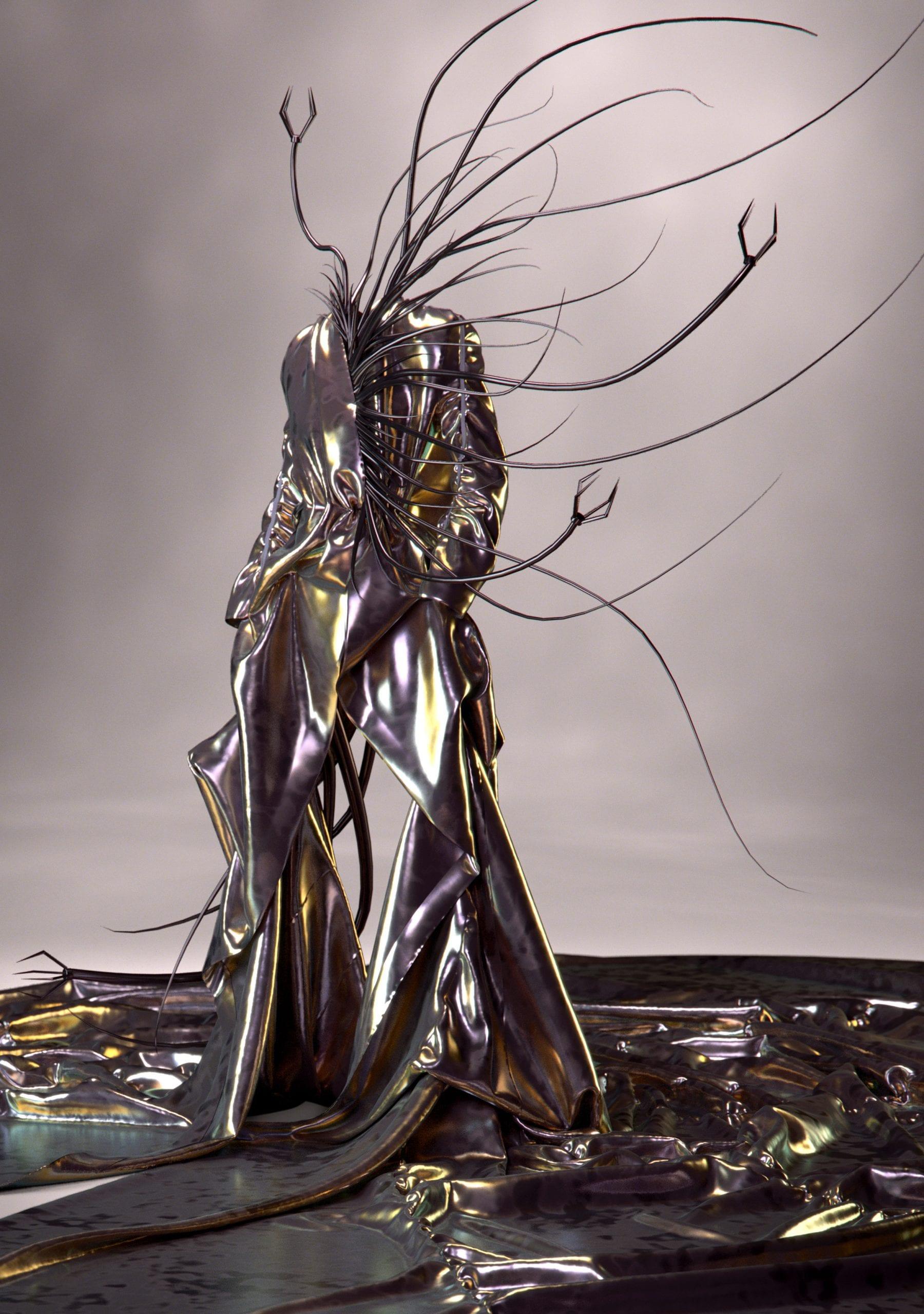 Toni Maticevski worked on the virtual garment