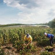 Foster + Partners proposes winery in Kent with curved green roof