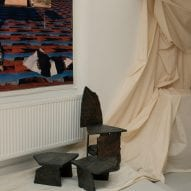 A wooden chair by Katy Brett