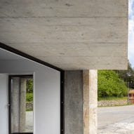 Concrete was left exposed
