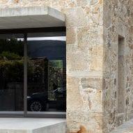 A concrete platform meets the original stone