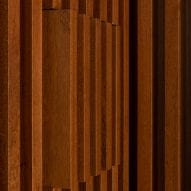 Wood lines the walls of the home