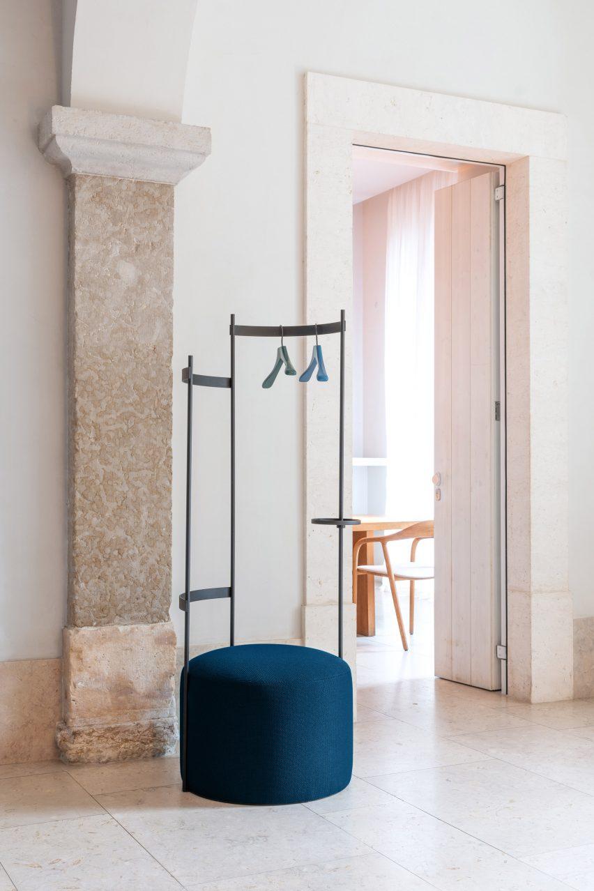 Tilda coat rack in hallway