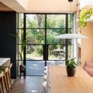 Double doors open to the garden