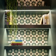 decorative tiles were used in niches