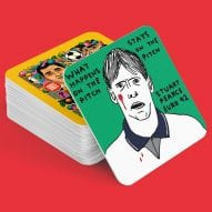 Iconic moments from the Euros celebrated on beer mats by David Shrigley, Pentagram and more