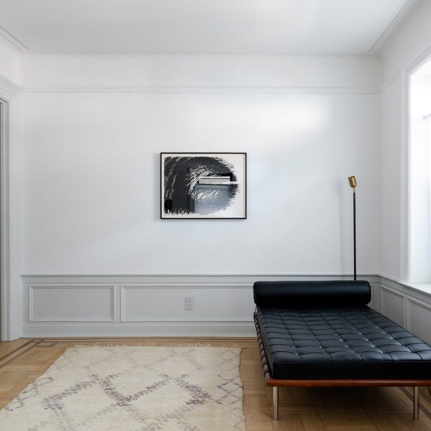 Office with Mies van der Rohe Barcelona daybed