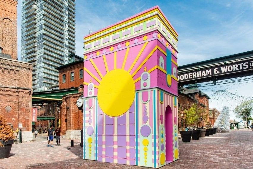 ARc de Blob pavilion in Toronto's Distillery Historic District