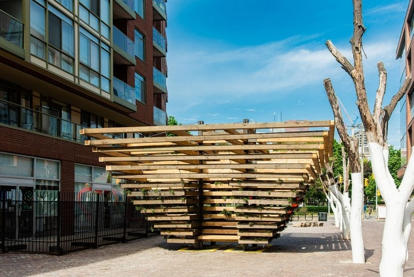 From Small Beginnings wooden pavilion in Toronto, Canada