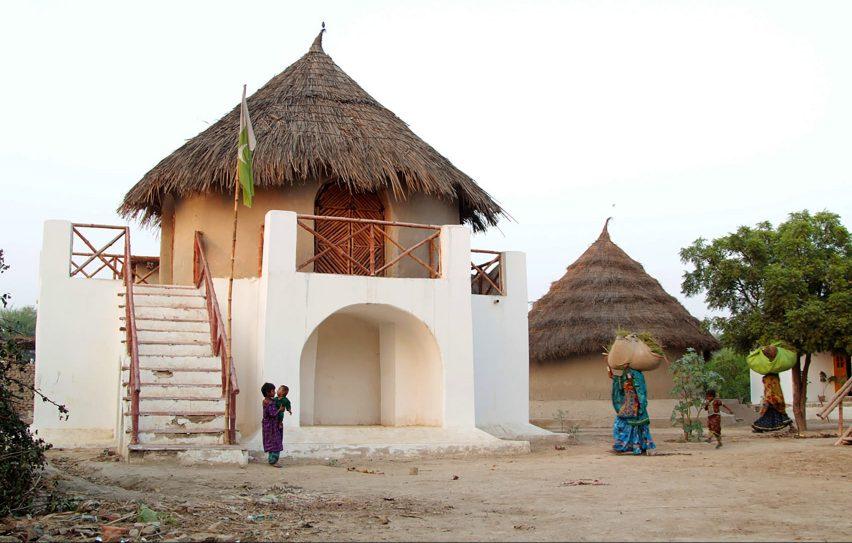 Two-story village school by Yasmeen Lari