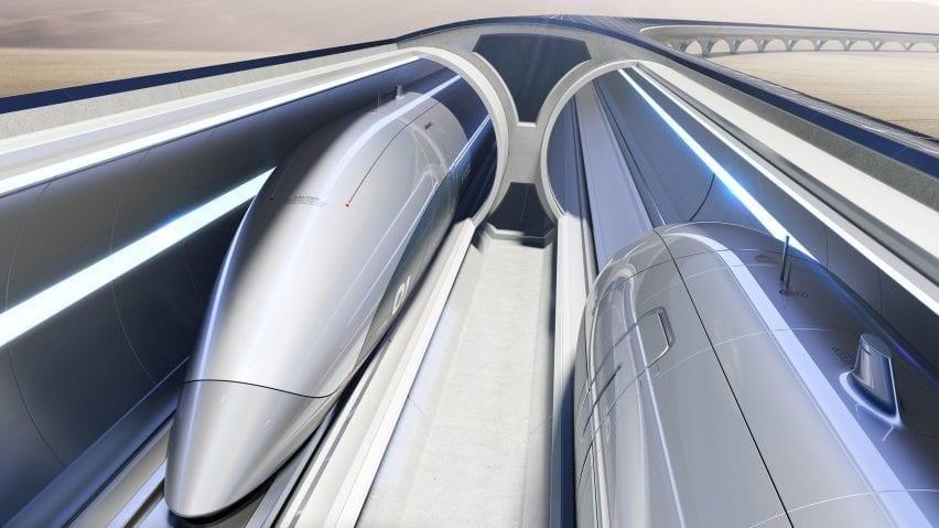 The Hyperloop high-speed train system