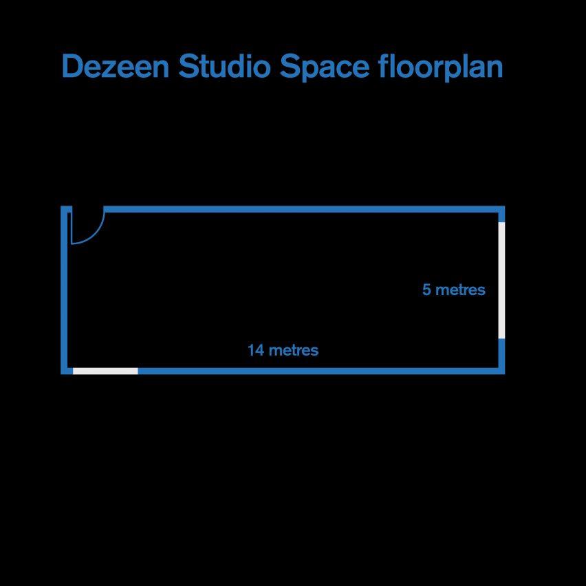 Dezeen Studio Space floorplan