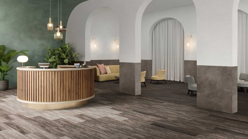 Clay Create carpet tiles in the Rudiments collection by IVC Commercial